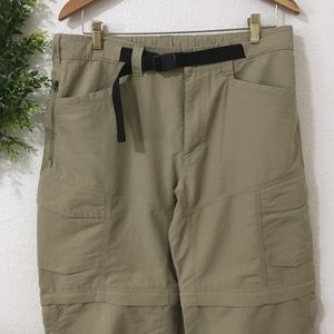 The North Face Convertible Zip Off Khaki Pants